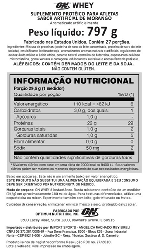 Kit 100% ON Whey + BCAA Powder + Creatine - Optimum Nutrition - Lado Atleta 72e56327e64f2